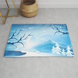 Fantasy Winter Wonderland  Rug