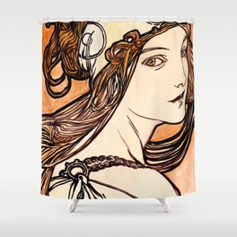 Parting glances of an ancient dreamgirl Shower Curtain