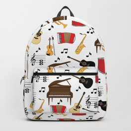 Musical Instruments Neck Gator Piano Accordian Trumpet Sax Guitar Backpack