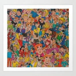 Archie Comics Collage Kunstdrucke