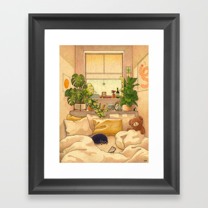 Cozy Space Gerahmter Kunstdruck