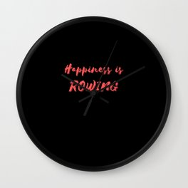 Happiness is Rowing Wall Clock