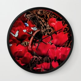 Coughing love Wall Clock