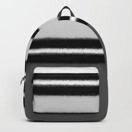 black white gray stripes Backpack