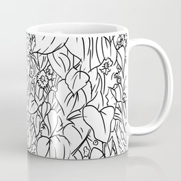 Great Prairie with Sunflowers in Black and White Coffee Mug