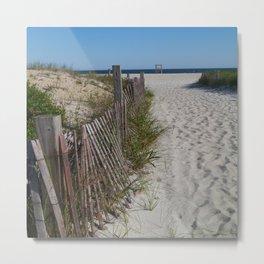 A Nice Beach Day Metal Print