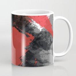 Red and Black Paint Splash Coffee Mug