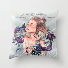 Zodiac Signs: Pisces Throw Pillow