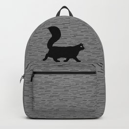 Walking Black Cat Backpack