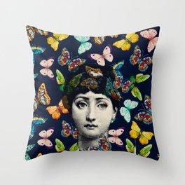 The Butterfly Queen Throw Pillow