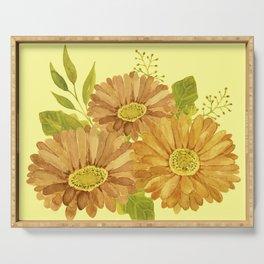 Happy Marigold Bouquet Serving Tray