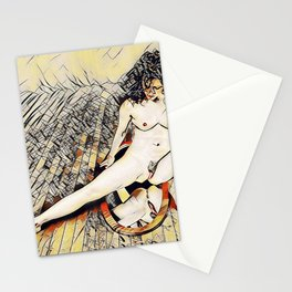 6078s-KD Mirror Reflections Erotic Art in the style of Wassily Kandinsky Stationery Cards