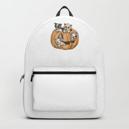 Cats Pumpkin, It's Show Time Funny Halloween Horror Scary Backpack