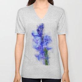 bluebell watercolor   Unisex V-Neck