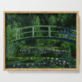 The Water Lily Pond Deep & Dark Serving Tray