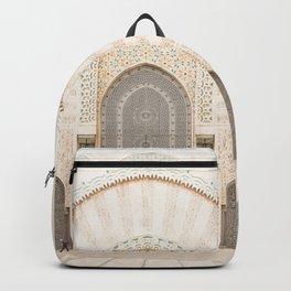 Perspective - Hassan II Mosque - Casablanca, Morocco Backpack