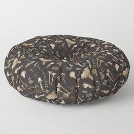 Northern forest (black) Floor Pillow