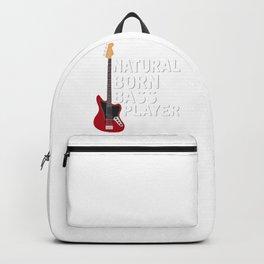 Natural Born Bass Player Backpack
