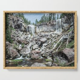 Rock Land Waterfall // Natural Beauty Wilderness Photography Decoration Serving Tray