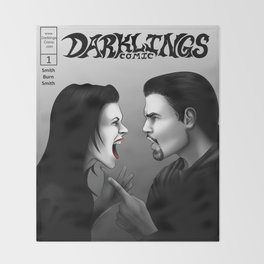 Darklings Issue 1 cover Throw Blanket
