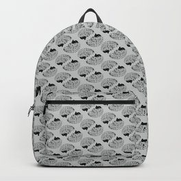 Braaains (black on grey) Backpack