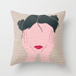 Pondering Buns Throw Pillow