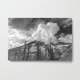 Rainier Obscured Metal Print