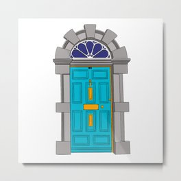 Georgian Dublin Door Metal Print
