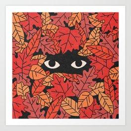 Leaf Me Alone (Fall) Art Print