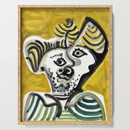 Pablo Picasso - Man's head - Digital Remastered Edition Serving Tray