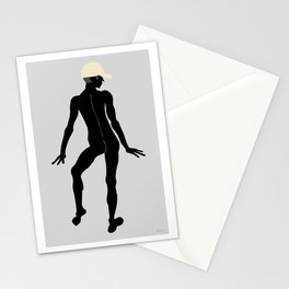Male Nude Noir 08 Stationery Cards