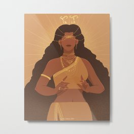 Tala | Goddess of the Stars Metal Print