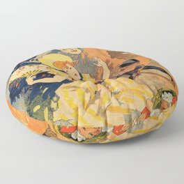 Pantomime comedy 1891 by Jules Chéret Floor Pillow