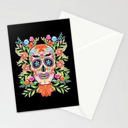 Best sugar skull day of dead dia de los muertos Stationery Cards