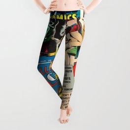 Comics Collage Leggings
