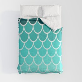 Ombre Fish Scale Pattern Comforters
