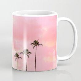Palm Trees Photography   Hot Pink Sunset Coffee Mug