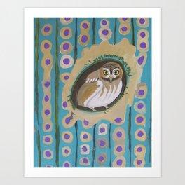 3 Green Jays Art Print