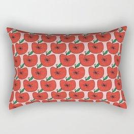 Pop Fruit Apple Pink Rectangular Pillow