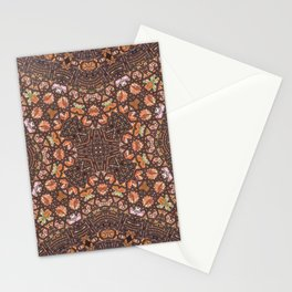 Abalone shell mosaic with a geometric kaleidoscopic design Stationery Cards