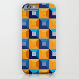 HOMEMADE 70S SQUARE PATTERN iPhone Case