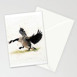 Cranky Goose - watercolor art, bird, animals Stationery Cards