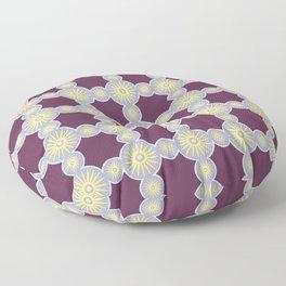 Mitosis Circular Print Seamless Pattern Floor Pillow