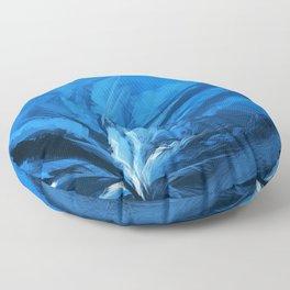 The Blue Flower Floor Pillow
