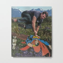 Jumping To Perspectives Metal Print