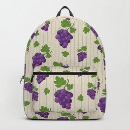 Pattern grape background stripe Backpack