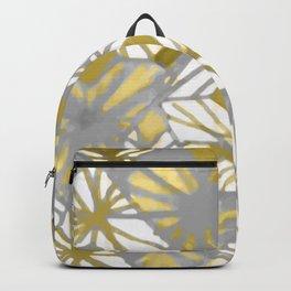 Oro y gris Backpack