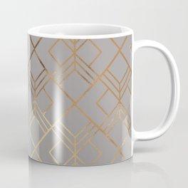 Modern elegant gray gold foil geometrical gradient Coffee Mug