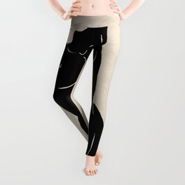 the Body of woman and the Universe - abstract hand drawn art Leggings