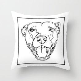 Staffy Head Throw Pillow